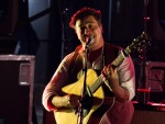 Mumford and Sons performs at The Boulevard Pool at The Cosmopolitan of Las Vegas in Las Vegas, NV on April 15, 2011