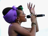LAS VEGAS, NV - SEPTEMBER 25: Singer Andra Day performs onstage during day 1 of the 2015 Life Is Beautiful Festival on September 25, 2015 in Las Vegas, Nevada. (Photo by FilmMagic/FilmMagic)