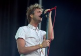 LAS VEGAS, NV - SEPTEMBER 25: Singer Aaron Bruno of Awolnation performs onstage during day 1 of the 2015 Life Is Beautiful Festival on September 25, 2015 in Las Vegas, Nevada. (Photo by FilmMagic/FilmMagic)