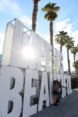 LAS VEGAS, NV - SEPTEMBER 25: Life is Beautiful signage during day 1 of the 2015 Life Is Beautiful Festival on September 25, 2015 in Las Vegas, Nevada. (Photo by Jeff Kravitz/FilmMagic)