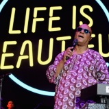 LAS VEGAS, NV - SEPTEMBER 25: Musician Stevie Wonder performs onstage during day 1 of the 2015 Life Is Beautiful Festival on September 25, 2015 in Las Vegas, Nevada. (Photo by Jeff Kravitz/FilmMagic)
