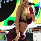 LAS VEGAS, NV - SEPTEMBER 26: Singer Pia Mia performs onstage during day 2 of the 2015 Life Is Beautiful Festival on September 26, 2015 in Las Vegas, Nevada. (Photo by FilmMagic/FilmMagic)