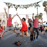 LAS VEGAS, NV - SEPTEMBER 26: Festival goers attend day 2 of the 2015 Life Is Beautiful Festival on September 26, 2015 in Las Vegas, Nevada. (Photo by Jeff Kravitz/FilmMagic)