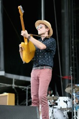 LAS VEGAS, NV - SEPTEMBER 27: Musician A/J Jackson of Saint Motel performs onstage during day 3 of the 2015 Life Is Beautiful Festival on September 27, 2015 in Las Vegas, Nevada. (Photo by FilmMagic/FilmMagic)