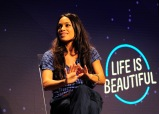 LAS VEGAS, NV - SEPTEMBER 27: Actress Rosario Dawson speaks onstage during day 3 of the 2015 Life Is Beautiful Festival on September 27, 2015 in Las Vegas, Nevada. (Photo by FilmMagic/FilmMagic)