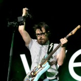 LAS VEGAS, NV - SEPTEMBER 27: Musician Rivers Cuomo of Weezer performs onstage during day 3 of the 2015 Life Is Beautiful Festival on September 27, 2015 in Las Vegas, Nevada. (Photo by FilmMagic/FilmMagic)