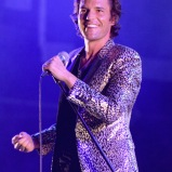 LAS VEGAS, NV - SEPTEMBER 27: Brandon Flowers performs onstage during day 3 of the 2015 Life Is Beautiful Festival on September 27, 2015 in Las Vegas, Nevada. (Photo by Jeff Kravitz/FilmMagic)