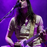 LAS VEGAS, NV - SEPTEMBER 27: Musician Brian Bell of Weezer performs onstage during day 3 of the 2015 Life Is Beautiful Festival on September 27, 2015 in Las Vegas, Nevada. (Photo by FilmMagic/FilmMagic)